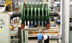 Large rotor assembly in our machine shop, the Columbia Engineering Works (CEW)
