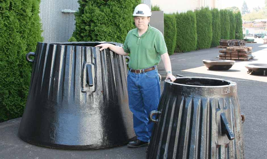 Gyratory crusher wear parts by Columbia Steel
