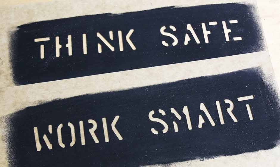 Something as simple as stencils on our equipment can be a helpful reminder of on-site safety messages.