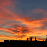 Sunrise at the Columbia Steel Foundry